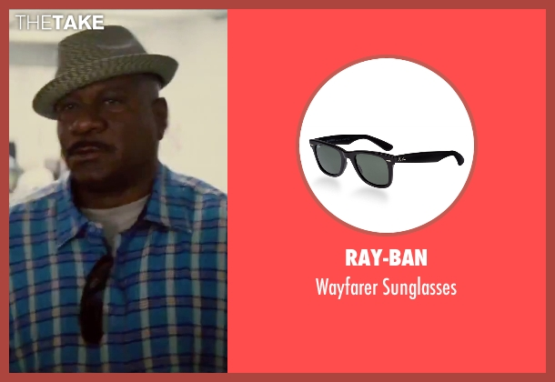 Ray-Ban black sunglasses from Mission: Impossible - Rogue Nation seen with Ving Rhames (Luther Stickell)