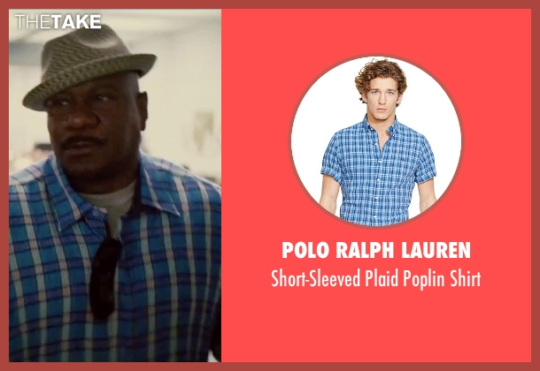 Polo Ralph Lauren blue shirt from Mission: Impossible - Rogue Nation seen with Ving Rhames (Luther Stickell)