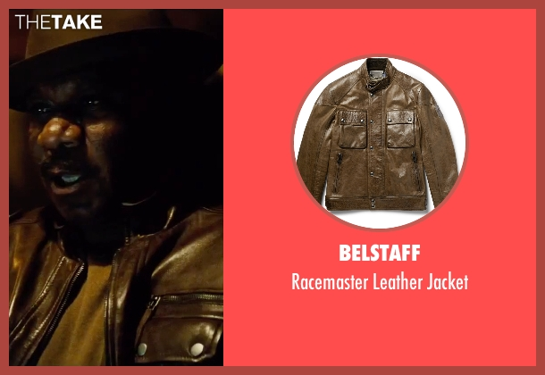 Belstaff brown jacket from Mission: Impossible - Rogue Nation seen with Ving Rhames (Luther Stickell)