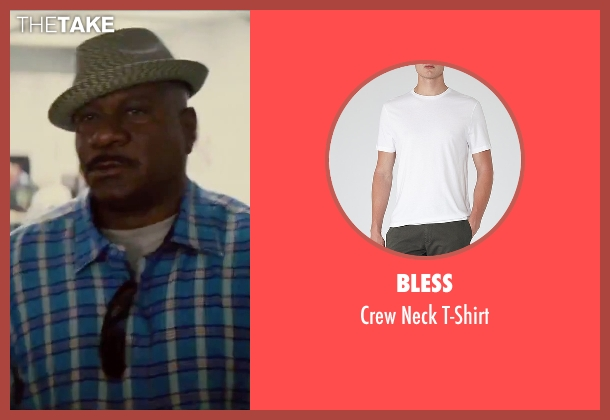 Bless white t-shirt from Mission: Impossible - Rogue Nation seen with Ving Rhames (Luther Stickell)