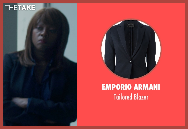 Emporio Armani blue blazer from Blackhat seen with Viola Davis (Unknown Character)