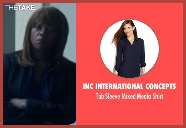 INC International Concepts blue shirt from Blackhat seen with Viola Davis (Unknown Character)