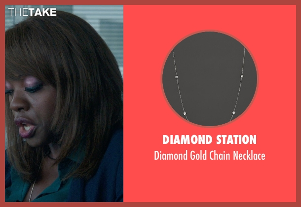Diamond Station gold necklace from Blackhat seen with Viola Davis (Unknown Character)