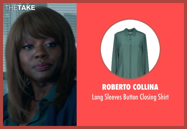 Roberto Collina green shirt from Blackhat seen with Viola Davis (Unknown Character)
