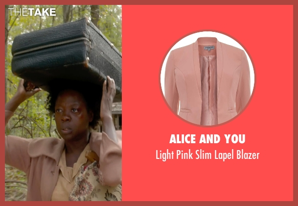 Alice And You pink blazer from Get On Up seen with Viola Davis (Susie Brown)