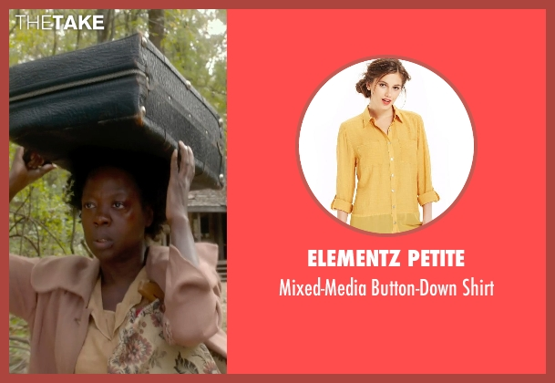 Elementz Petite yellow shirt from Get On Up seen with Viola Davis (Susie Brown)