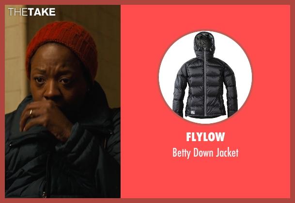 Flylow black jacket from Prisoners seen with Viola Davis (Nancy Birch)