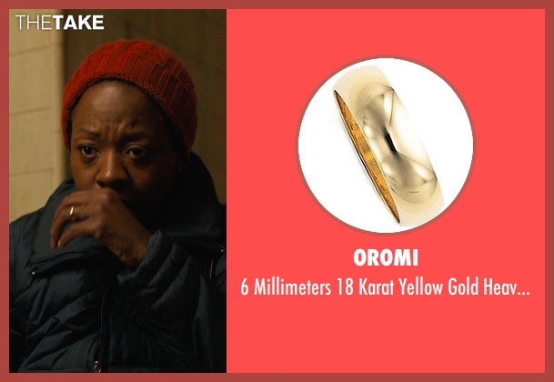 Oromi gold ring from Prisoners seen with Viola Davis (Nancy Birch)