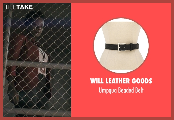 Will Leather Goods black belt from Suicide Squad seen with Viola Davis (Amanda Waller)