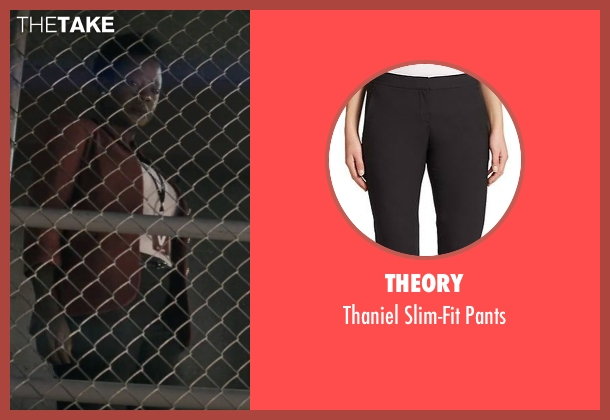 Theory black pants from Suicide Squad seen with Viola Davis (Amanda Waller)