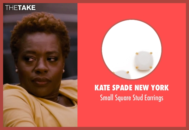 Kate Spade New York white earrings from The Disappearance of Eleanor Rigby seen with Viola Davis (Professor Friedman)
