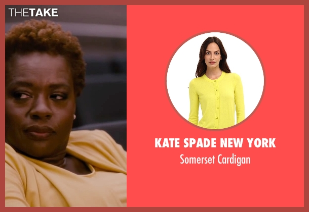 Kate Spade New York yellow cardigan from The Disappearance of Eleanor Rigby seen with Viola Davis (Professor Friedman)