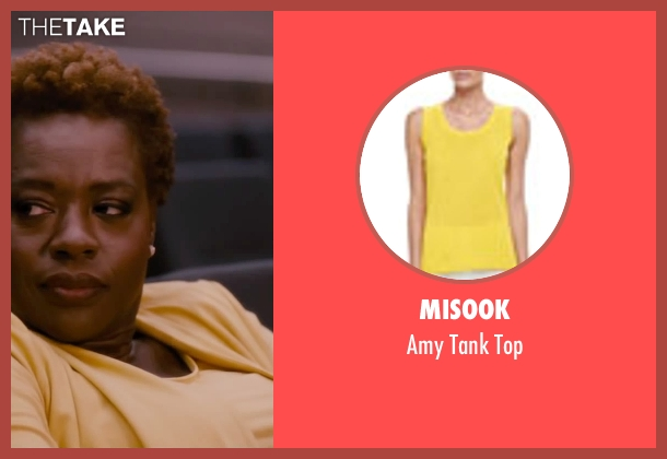 Misook yellow top from The Disappearance of Eleanor Rigby seen with Viola Davis (Professor Friedman)