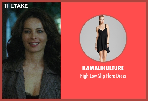 Kamalikulture black dress from The American seen with Violante Placido (Clara)