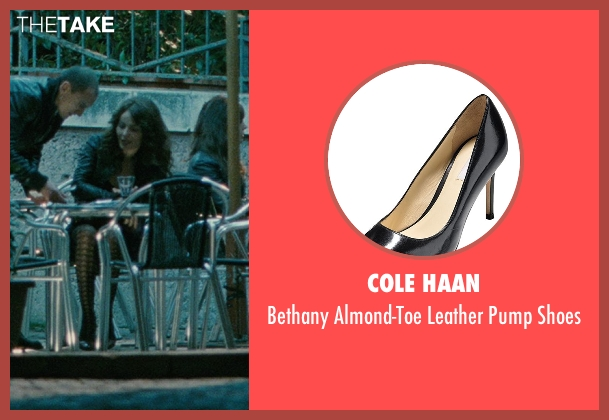 Cole Haan black shoes from The American seen with Violante Placido (Clara)