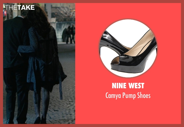 Nine West black shoes from The American seen with Violante Placido (Clara)
