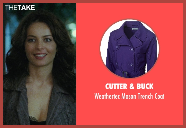 Cutter & Buck purple coat from The American seen with Violante Placido (Clara)