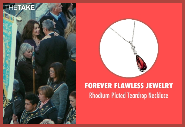 Forever Flawless Jewelry red necklace from The American seen with Violante Placido (Clara)