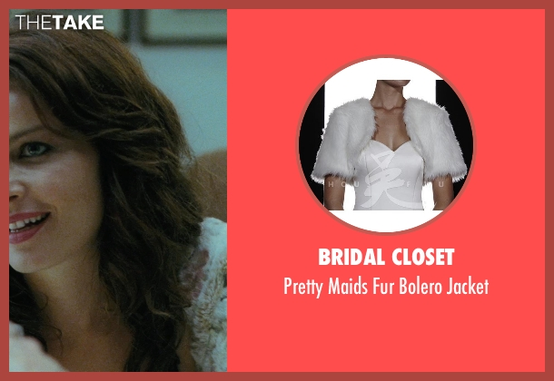 Bridal Closet white jacket from The American seen with Violante Placido (Clara)