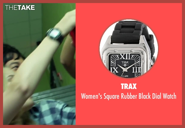 Trax black watch from Project Almanac seen with Virginia Gardner (Christina)