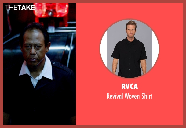 RVCA black shirt from Only God Forgives seen with Vithaya Pansringarm (Chang)