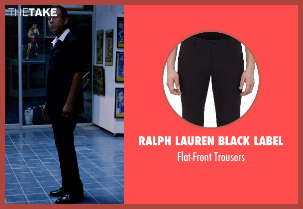 Ralph Lauren Black Label black trousers from Only God Forgives seen with Vithaya Pansringarm (Chang)