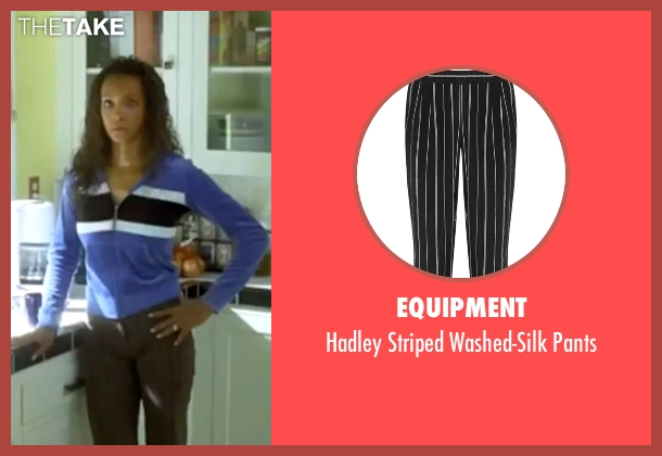 Equipment black pants from Kill Bill: Vol. 1 seen with Vivica A. Fox (Vernita Green)