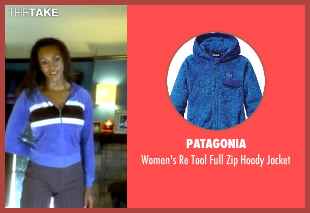 Patagonia blue jacket from Kill Bill: Vol. 1 seen with Vivica A. Fox (Vernita Green)