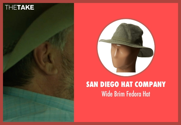 San Diego Hat Company green hat from Wild seen with W. Earl Brown (Frank)