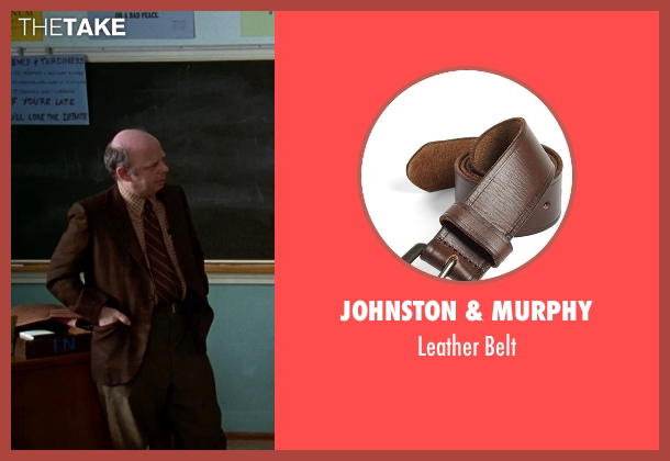 Johnston & Murphy brown belt from Clueless seen with Wallace Shawn (Mr. Wendell Hall)