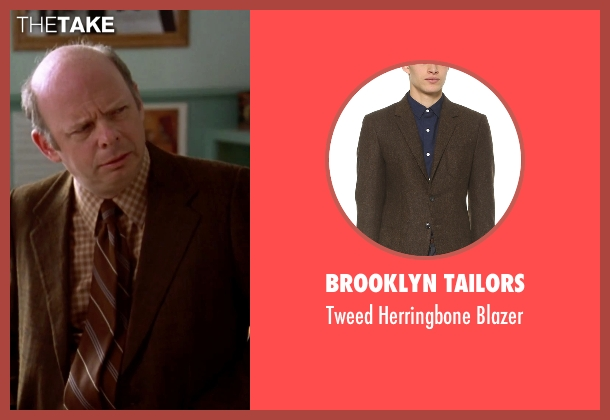 Brooklyn Tailors brown blazer from Clueless seen with Wallace Shawn (Mr. Wendell Hall)