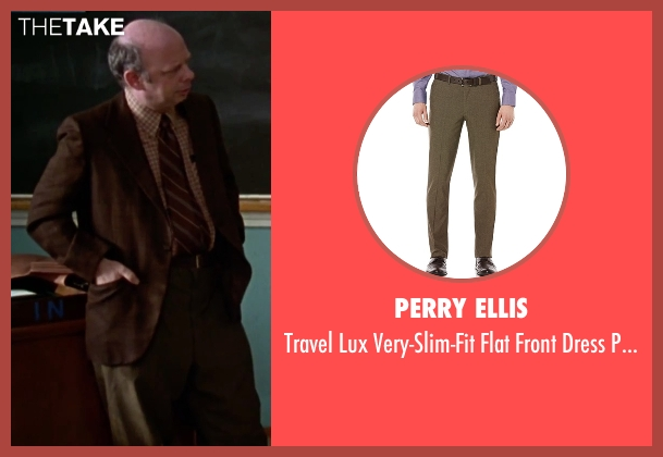 Perry Ellis brown pants from Clueless seen with Wallace Shawn (Mr. Wendell Hall)