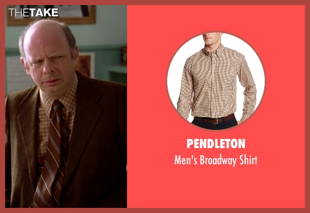 Pendleton brown shirt from Clueless seen with Wallace Shawn (Mr. Wendell Hall)