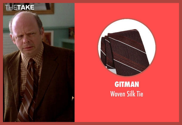 Gitman brown tie from Clueless seen with Wallace Shawn (Mr. Wendell Hall)