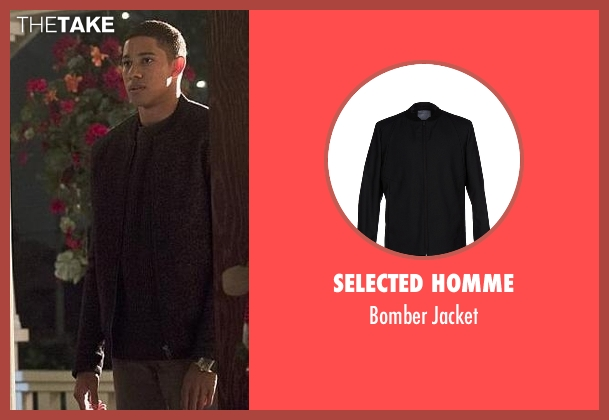 Selected Homme black jacket from The Flash seen with Wally West (Keiynan Lonsdale)