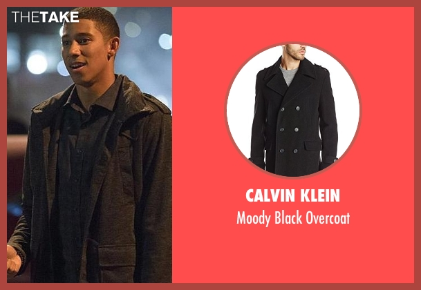 Calvin Klein black overcoat from The Flash seen with Wally West (Keiynan Lonsdale)