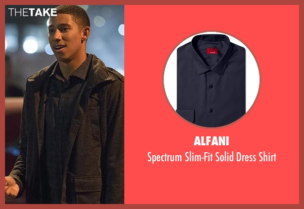 Alfani gray shirt from The Flash seen with Wally West (Keiynan Lonsdale)