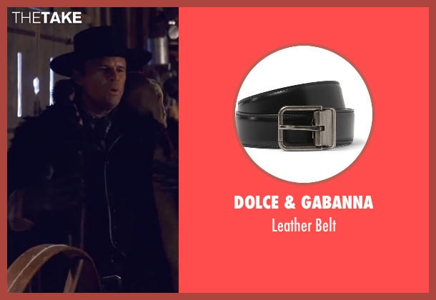 Dolce & Gabanna black belt from The Hateful Eight seen with Walton Goggins  (Sheriff Chris Mannix)