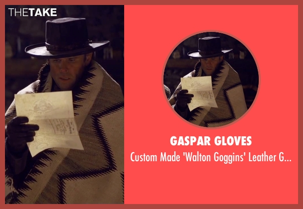 Gaspar Gloves black gloves from The Hateful Eight seen with Walton Goggins  (Sheriff Chris Mannix)