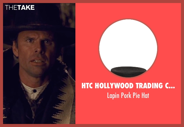 HTC Hollywood Trading Company black hat from The Hateful Eight seen with Walton Goggins  (Sheriff Chris Mannix)