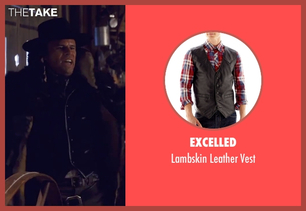 Excelled black vest from The Hateful Eight seen with Walton Goggins  (Sheriff Chris Mannix)