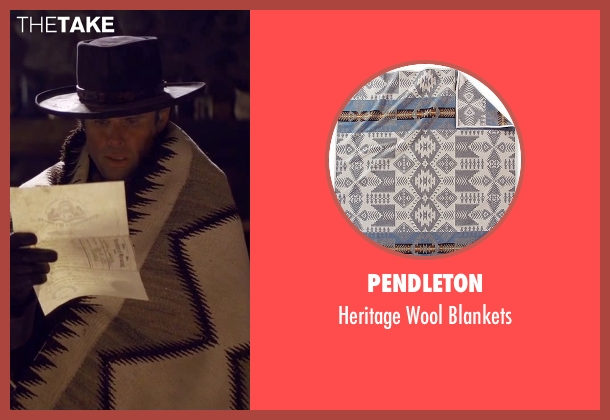 Pendleton white blankets from The Hateful Eight seen with Walton Goggins  (Sheriff Chris Mannix)