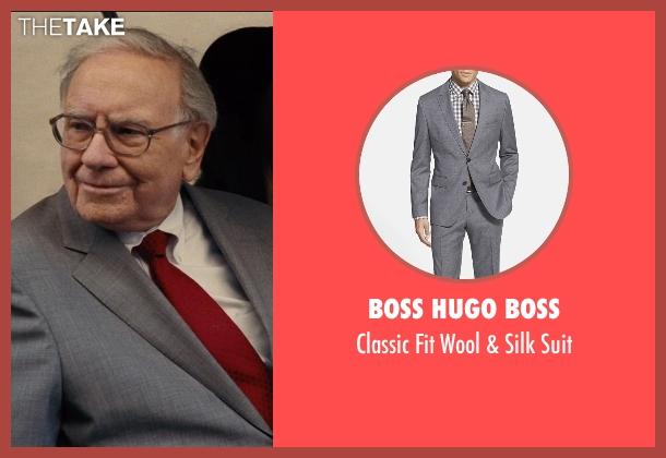 Boss Hugo Boss gray suit from Entourage seen with Warren Buffett (Unknown Character)