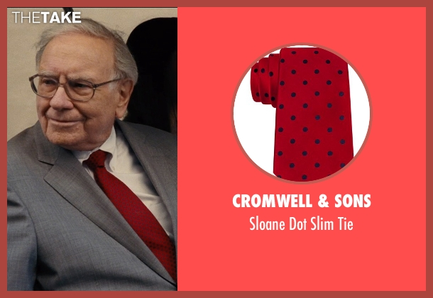 Cromwell & Sons red tie from Entourage seen with Warren Buffett (Unknown Character)