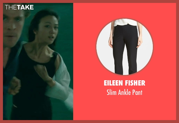 Eileen Fisher black pant from Blackhat seen with Wei Tang (Chen Lien)