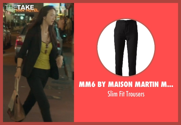 Mm6 By Maison Martin Margiela black trousers from Blackhat seen with Wei Tang (Chen Lien)