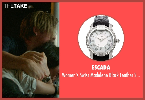 Escada black watch from Blackhat seen with Wei Tang (Chen Lien)