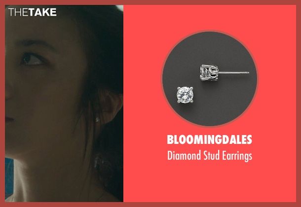 Bloomingdales earrings from Blackhat seen with Wei Tang (Chen Lien)