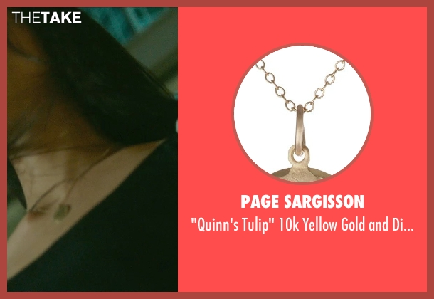 Page Sargisson gold necklace from Blackhat seen with Wei Tang (Chen Lien)