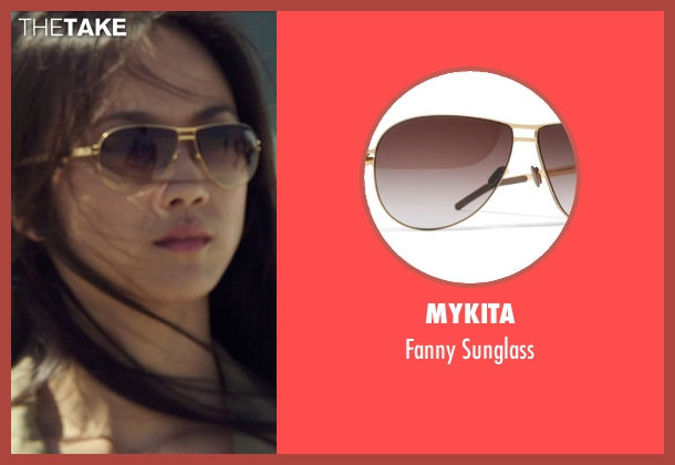 Mykita gold sunglass from Blackhat seen with Wei Tang (Chen Lien)
